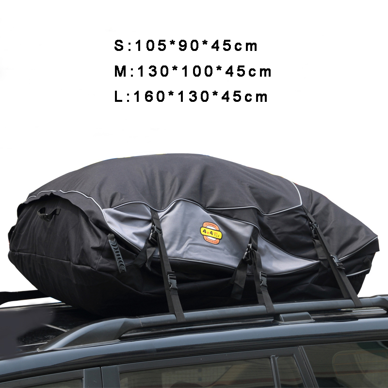 Water Resistant Roof Bag Large Capacity Roof Top Cargo Carrier Car Luggage Storage for Travel partol universal car roof rack cross bars crossbars with anti theft lock 60kg 132lbs cargo basket carrier snowboard luggage top