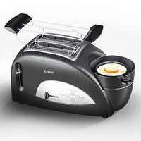 Stainless Steel Multifunction Mini Breakfast Automatic Two Pieces Grilled Cheese Sandwich Toaster Spit Driver Can Cook Eggs