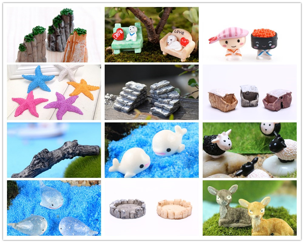 Star Animal Stone Bridge Figurines Mini Resin Crafts Fairy Garden Miniatures Terrarium/ Succulents/ Micro Landscape Decoration