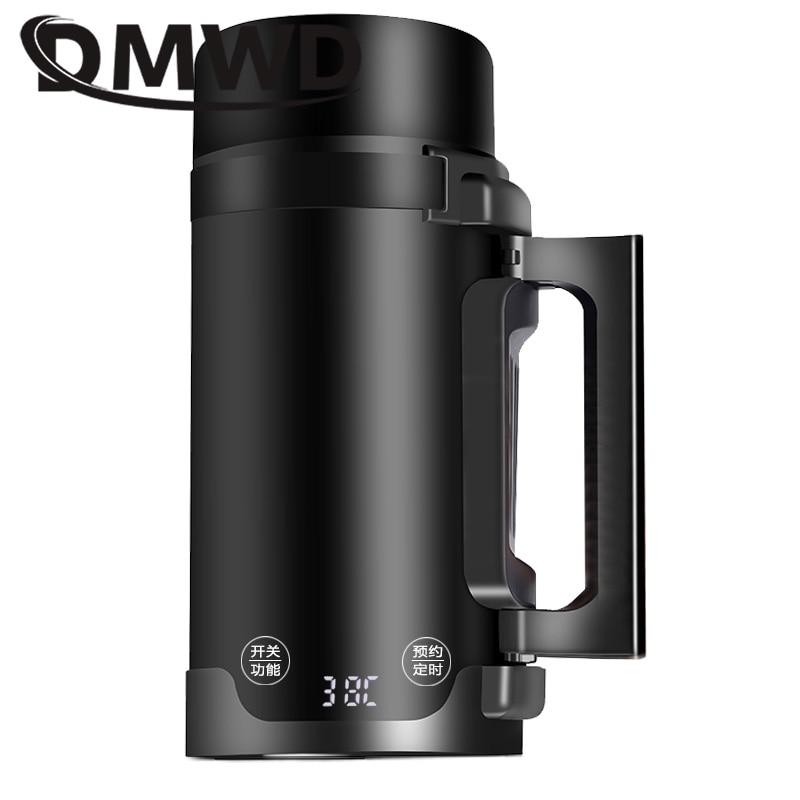 DMWD Portable Mini Electric Kettle Hot Water Thermal Heating Boiler Travel Teapot Cup Milk Heater Stew Porridge Cooker 110V 220V