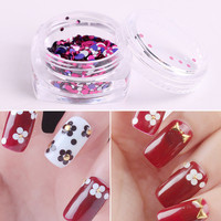 12 Colors Lot Shinning Nail Glitter Powder Round Metal Gorgeous Nail Chrome Pigment Manicure Glitters Dust