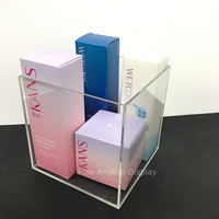 Acrylic Cube Cosmetic Organizer Makeup Sponge Beauty Blender Jewelry Hair Accessories Holder