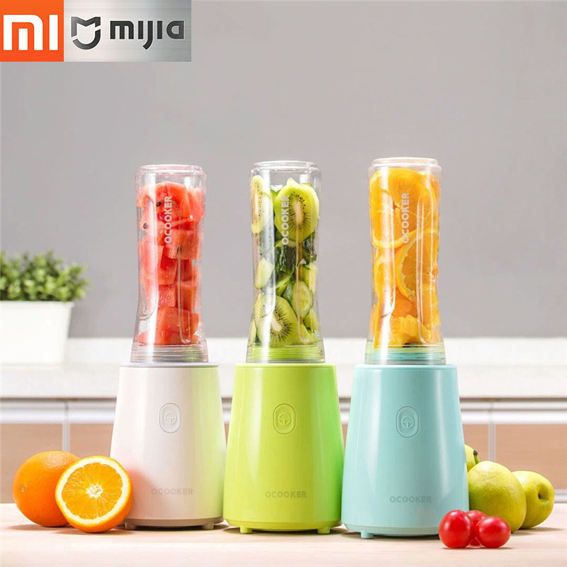 купить Original Xiaomi juicer Portable Fruit And Vegetable Cooking Machine 8Seconds To Quickly Out Of The Juice,Safe,Portable,Dustproof недорого