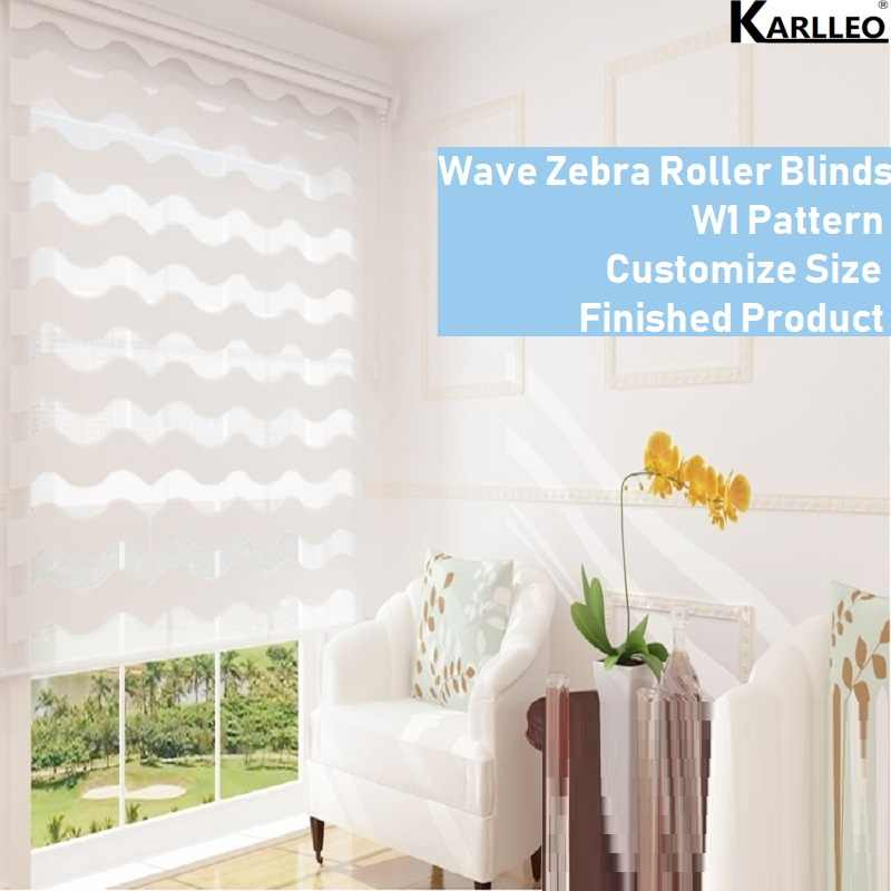 High Quality Wave S Zebra Rainbow Dual Roller Blinds Shades W1 Pattern Customize Size Finished Product