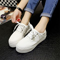 2016 women's shoes Canvas shoes Summer large base platform shoes with flat round head flat with the lazy shoes