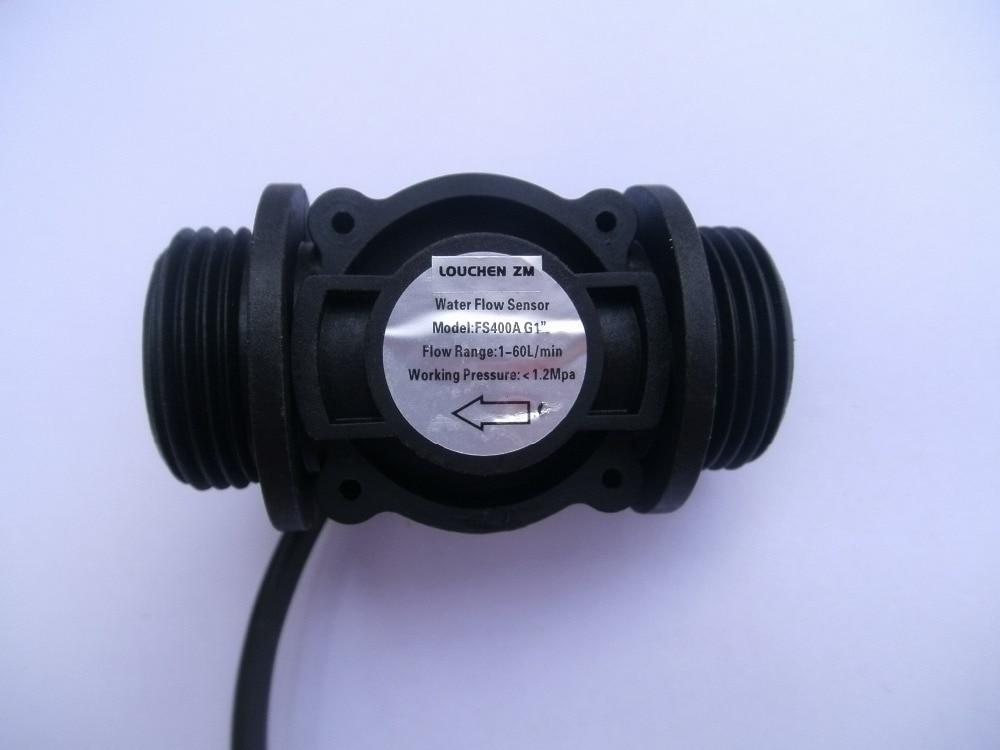 LOUCHEN ZM Water Flow Meter Fuel Flow Meter Water Meter Sensor Flowmeter Water Sensor Water Counter G1 1-60l/im 1.2MPA