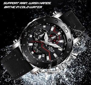 Image 4 - LIGE montre de luxe analogique en cuir pour homme, horloge à Quartz masculine de marque, sportive, style militaire, Date, 2019