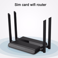 Cioswi 4g router sim card wifi 3g hotspot built in modem repeater lan 300mbps with 4 5dbi antennas cellular signal booster
