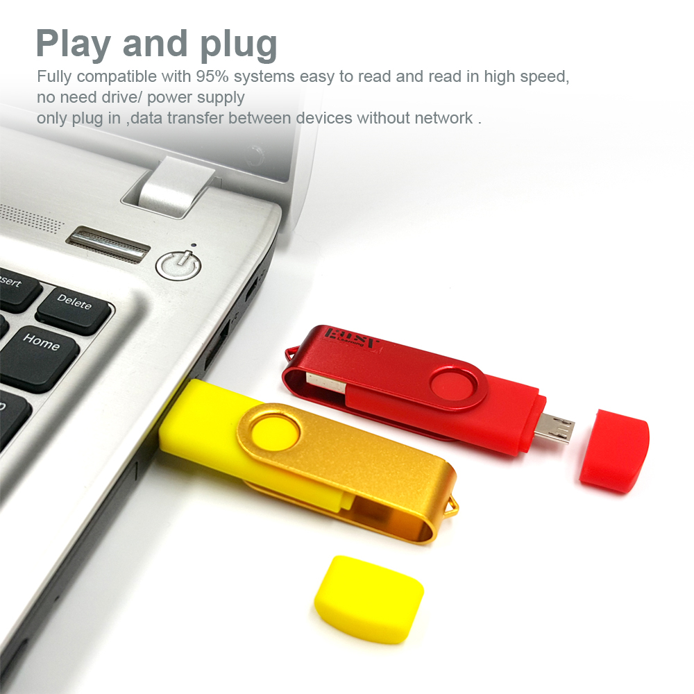 Voor Android Systeem Metal OTG USB Flash Drive Pendrive Usb Stick - Externe opslag - Foto 6