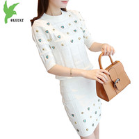 New Autumn Women Knit Sweater Two Pieces Sets Sexy Skirt Suits Fashion Solid Color Set Beads