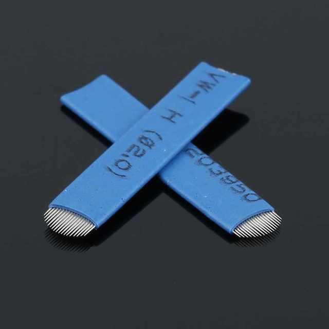 10 Pair 20pcs 18 Pin U Shape Tattoo Needles Permanent Makeup Eyebrow Embroidery Blade For 3D Microblading Manual Tattoo Pen