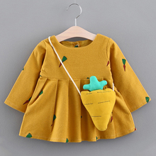 Keelorn Baby Girl Dress 2019 New Autumn Baby Dress Turn Down Collar Girl Birthday Dress Tree Print Long Sleeve Baby Dress