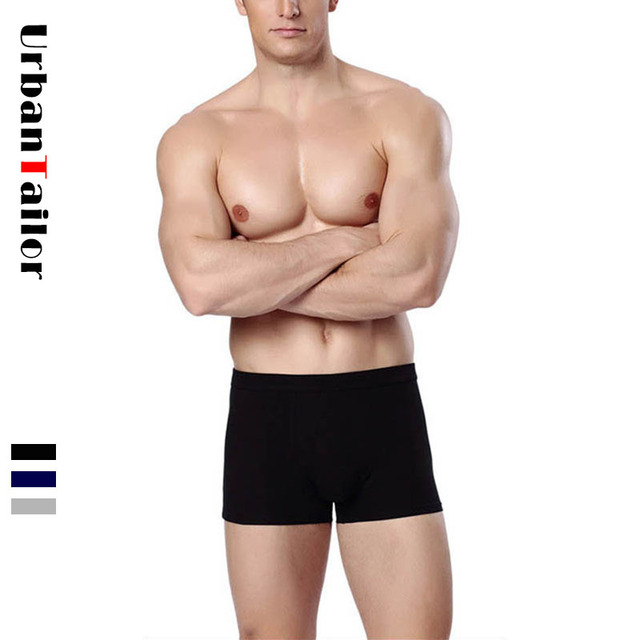 63c426dce Brand Men Boxer Underwear Men's Boxers Men Cotton Underpants Male Panties  Man Undershorts Male Black Boxer Shorts Solid Trunks