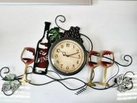 2016 DIY Large Wines Cellar Home Decoration Wall Clock Big Vintage Modern Design Art Creative Watches Clocks