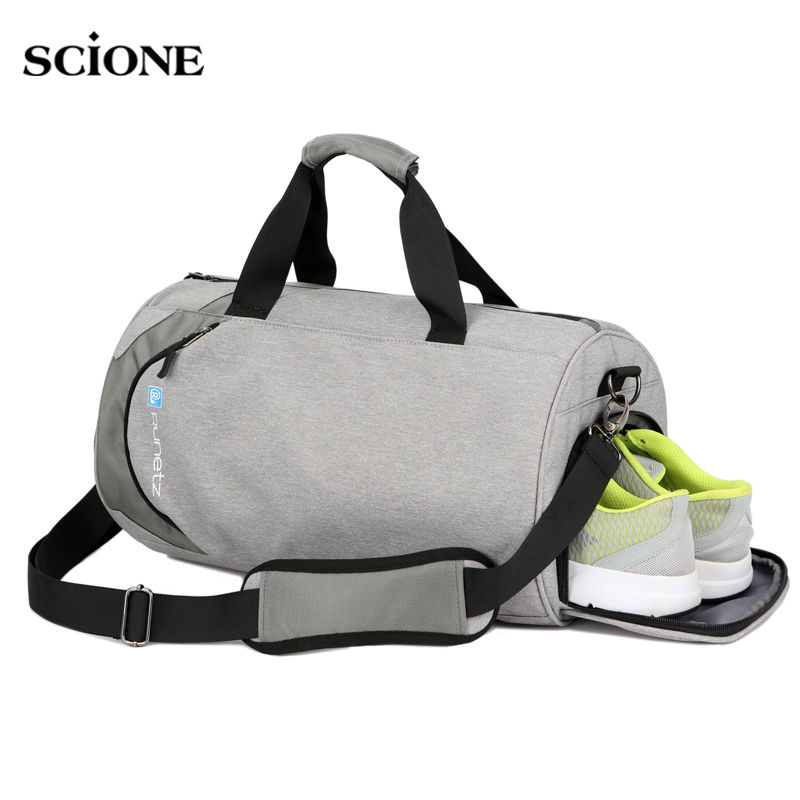 Men Gym Bags For Training Waterproof Basketball Fitness Women Outdoor Sports Football Bag With Independent Shoes Storage Xa103wa