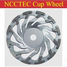 7 ''T сегмент Циклон алмазная шлифовальная чашка колесо | 180 мм бетонная шлифовальная пластина | 12 сегментов