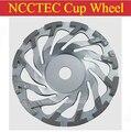 7 ''T Ciclone do segmento de diamante rebolo CUP | 180mm placa de moagem de Concreto | FRETE grátis 12 segmentos