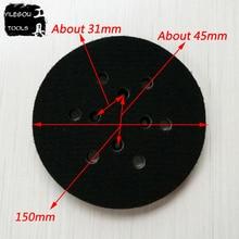 Almohadilla de lijado de 6 agujeros, disco de pulido de 6 pulgadas, placa de pulido de 6 agujeros, 150mm, Envío Gratis