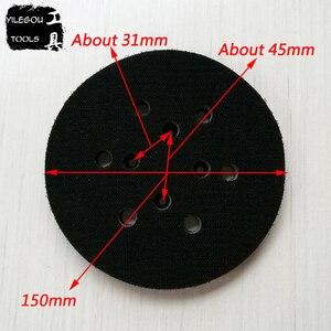 Image 1 - Almohadilla de lijado de 6 agujeros, disco de pulido de 6 pulgadas, placa de pulido de 6 agujeros, 150mm, Envío Gratis