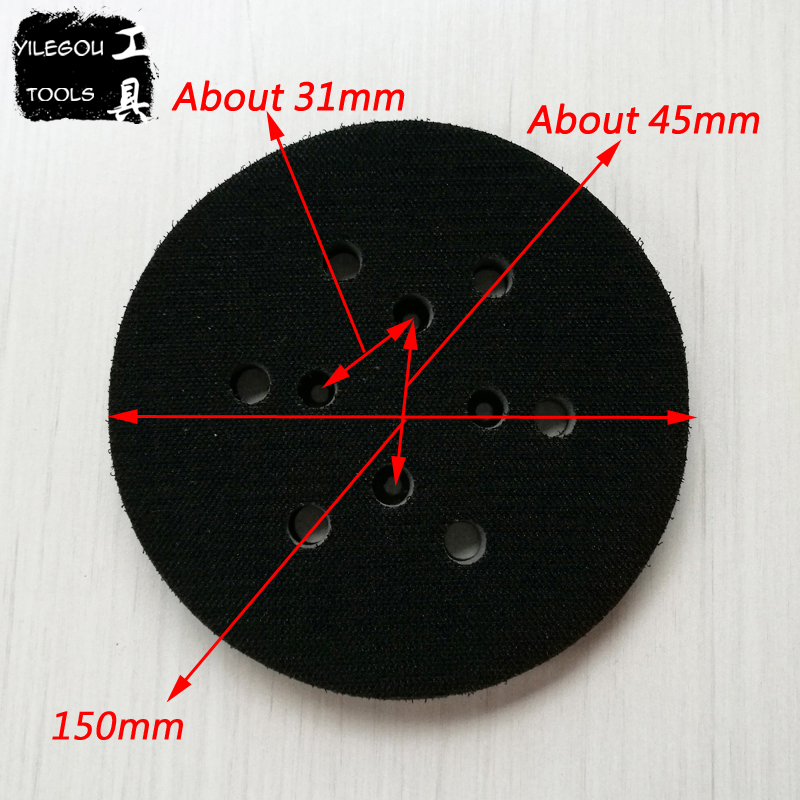 Free Shipping 150mm 6 Hole Sanding Pad 6 Inches Polishing Disc 6