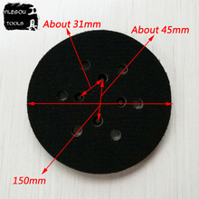 "Free Shipping 150mm 6 Hole Sanding Pad 6 Inches Polishing Disc 6"" Polishing Plate 6 Hole Grinding Disc"