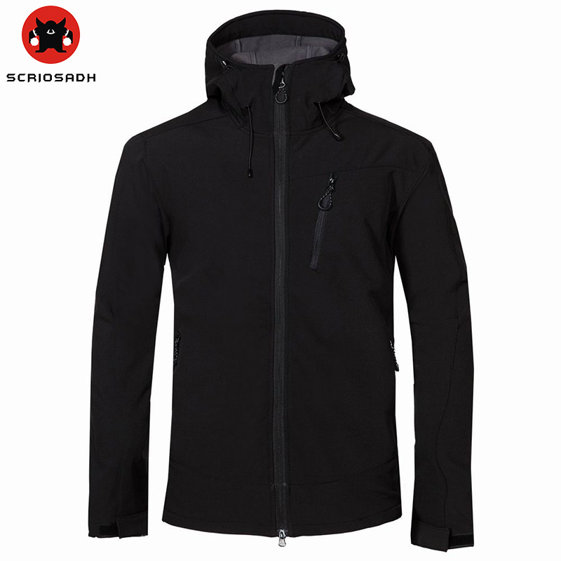 Autumn Winter Soft shell Outdoor Jacket Men Waterproof Windproof Thermal Breathable Jacket Skiing Climbing Hiking Jacket