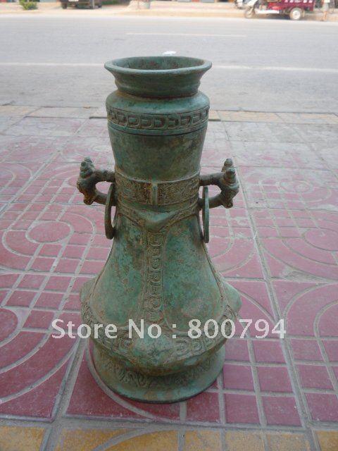 Very rare Han Dynasty (178-221 )Bronze vase,free shippingVery rare Han Dynasty (178-221 )Bronze vase,free shipping
