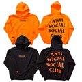 Марка 1:1 Анти Социальные Social Club Балахон Мужчины Параноик Anti Social Club АГОС Непобедимый Женщины Толстовки И Кофты Пуловеры
