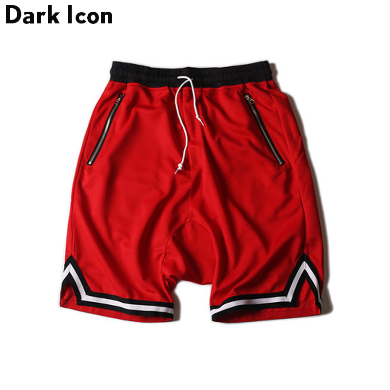 DARK ICON Färg Kontrast Drop Crotch Hip Hop Mens Shorts 2018 Sommar - Herrkläder - Foto 2