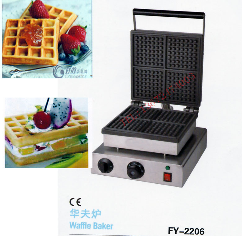 цена на With recipe for square waffle maker, waffle oven/ 4 pcs for one time/ waffle pan/ waffle iron