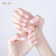 hot deal buy 12 sets white french fake nails with glue diy manicure art tips natural press on false nail art tools wholesale nail supplies