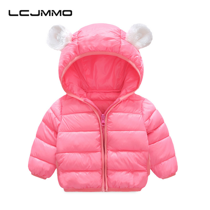 LCJMMO Winter Girls Boys Coats and Jackets With Hood 2017 Fashion Baby Girl Down Jacket Kids Children Outwear&Coats 60cm-110cm 2017 kids jacket winter for girl and coats duck down girls fluffy fur hooded jackets waterproof outwear parkas coat windproof