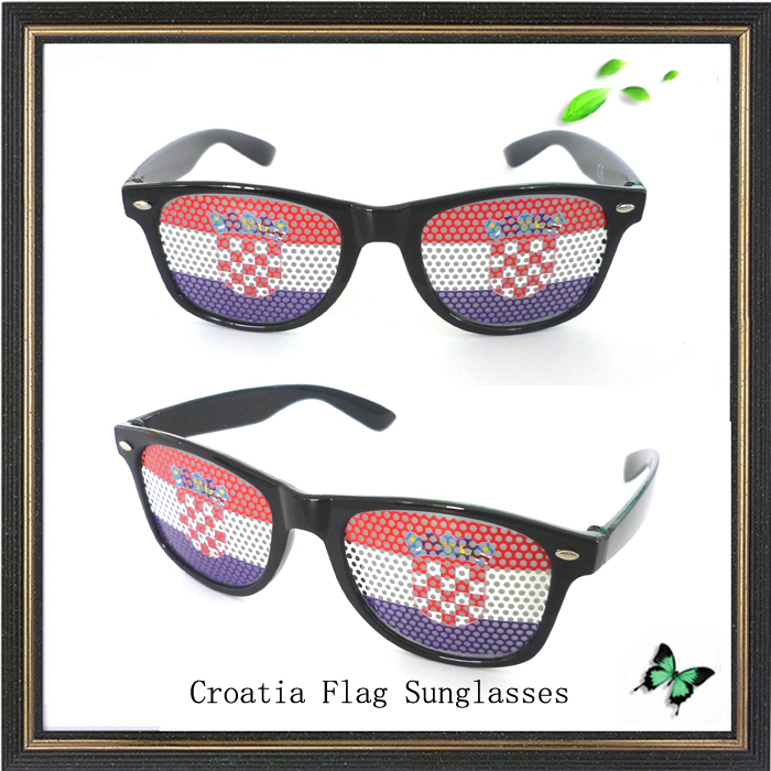 Croatia flag glasses stickers logo sunglasses birthday sunglasses party sun glasses promotion black sunglasses dance sunglasses in movie tv costumes from