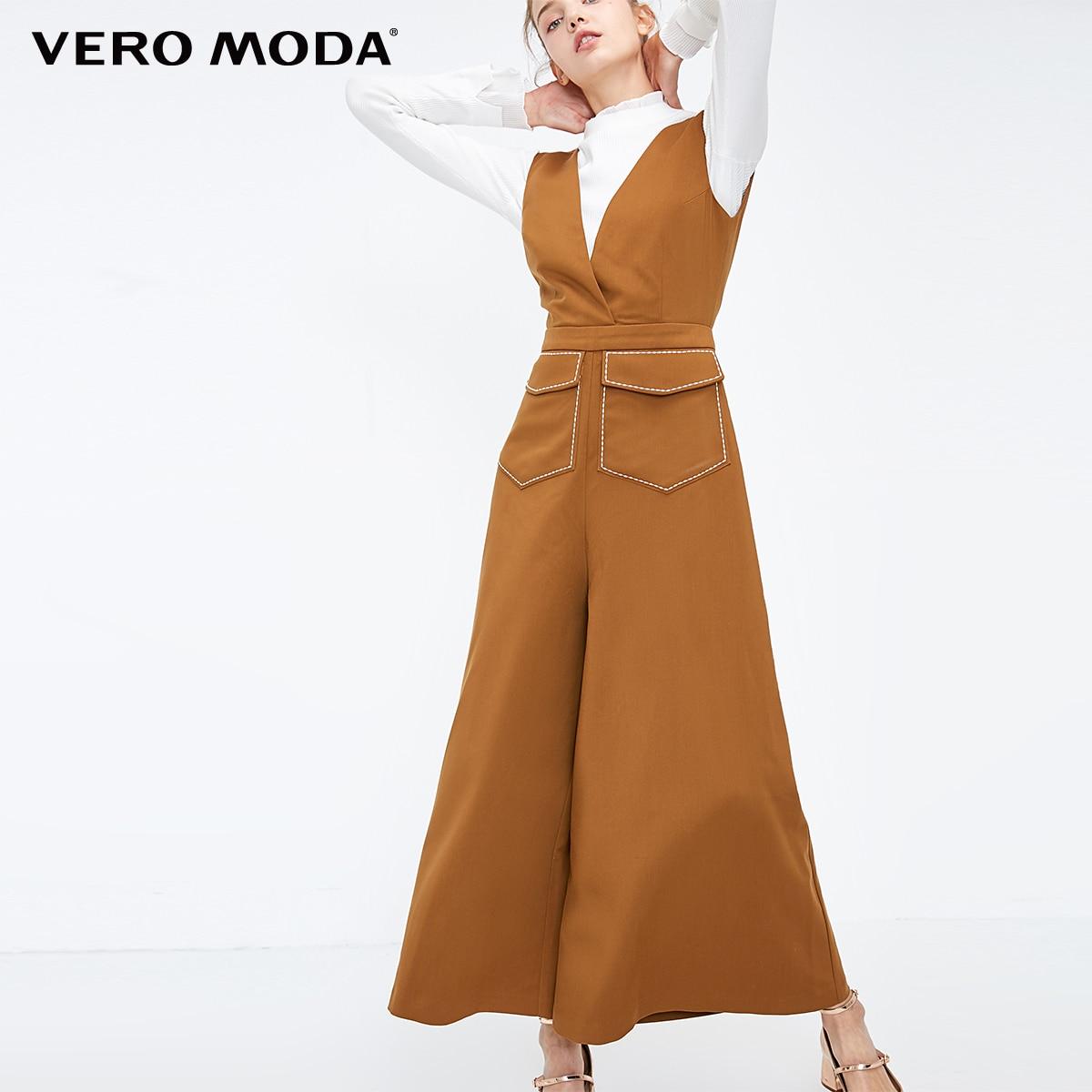 Vero Moda Women's Visible Stitches Crop Jumpsuit   318344513