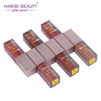 HABIBI BEAUTY 24pcs Set 6 Colors 3D Fashion Color Waterproof Lip Gloss Makeup Liquid Lipstick Lot
