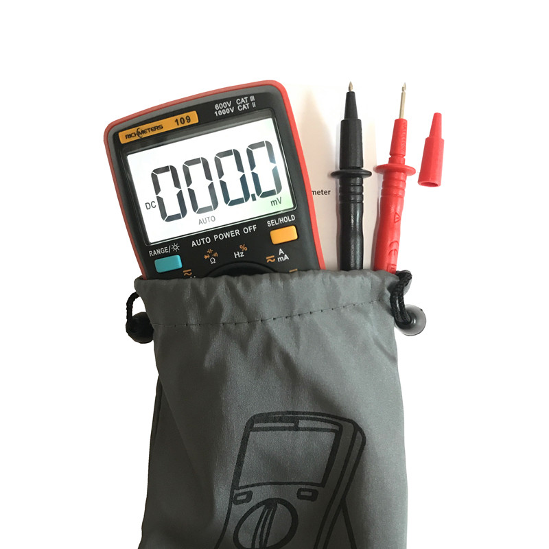 Image 5 - RM109 Palm size True RMS Digital Multimeter 9999 counts Square Wave Backlight AC DC Voltage  Ammeter Current Ohm Auto/Manual-in Multimeters from Tools