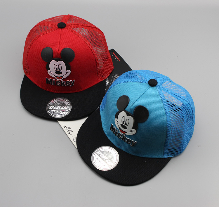 Quality Summer Cap Net Yarn Children Snapback Sequin M Mickey Cap Sequined Net Hats Cool Hip Hop Cap Hat Kids Caps Mesh Kasket Viseir Superior In