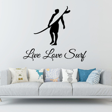 Funny Surfing Wall Stickers Adhesive Wallpaper Vinyl Room Decoration For Kids Rooms Nursery Decor Diy Pvc Home