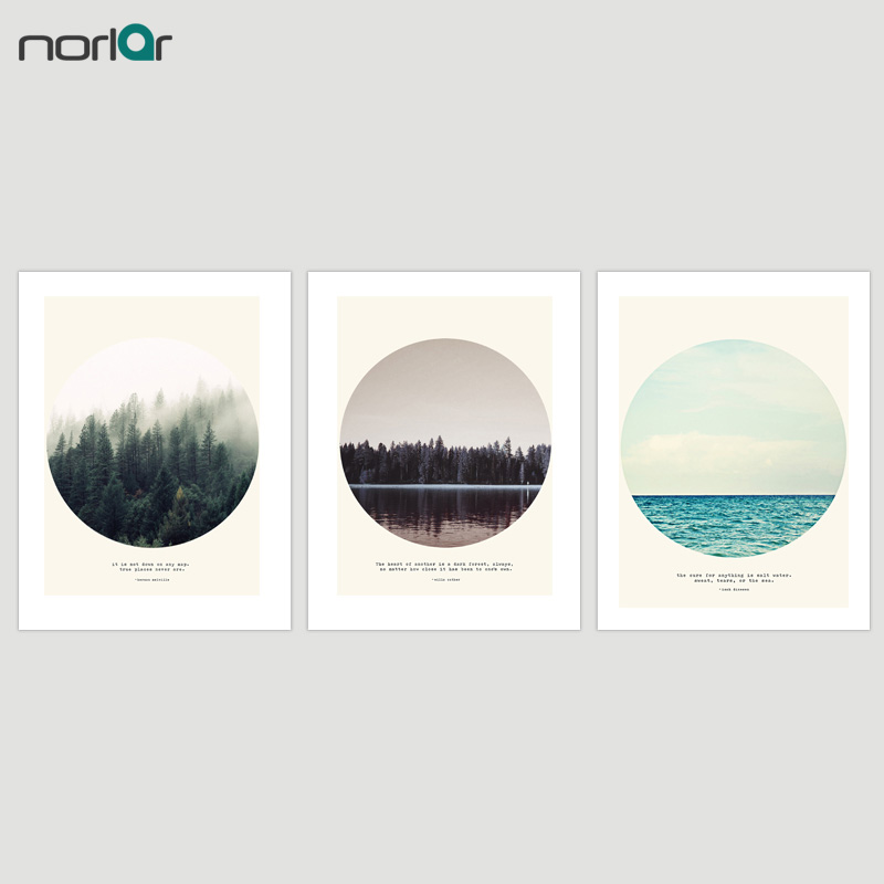 Discreet Nordic Posters And Prints Blue Ocean Seascape Sea Waves Wall Art Canvas Painting Decorative Picture Scandinavian Decoration Home Home Decor