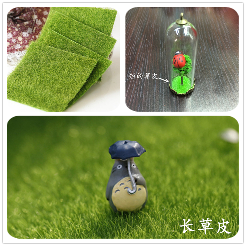 US $3 0 |Glass bottle bottom decoration grass simulation false simulation  fake Sod Lawn turf moss Eco bottle Micro View home-in Jewelry Findings &