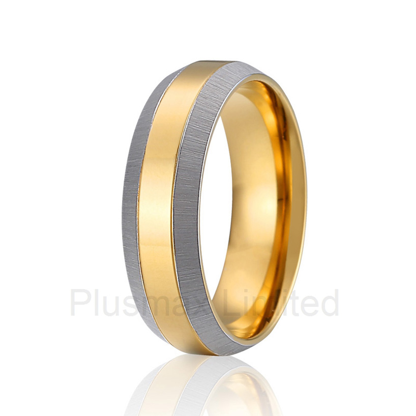 Titanium Bridal Pair  silver color gold color unqiue mens and womens titanium steel jewelry wedding ringsTitanium Bridal Pair  silver color gold color unqiue mens and womens titanium steel jewelry wedding rings