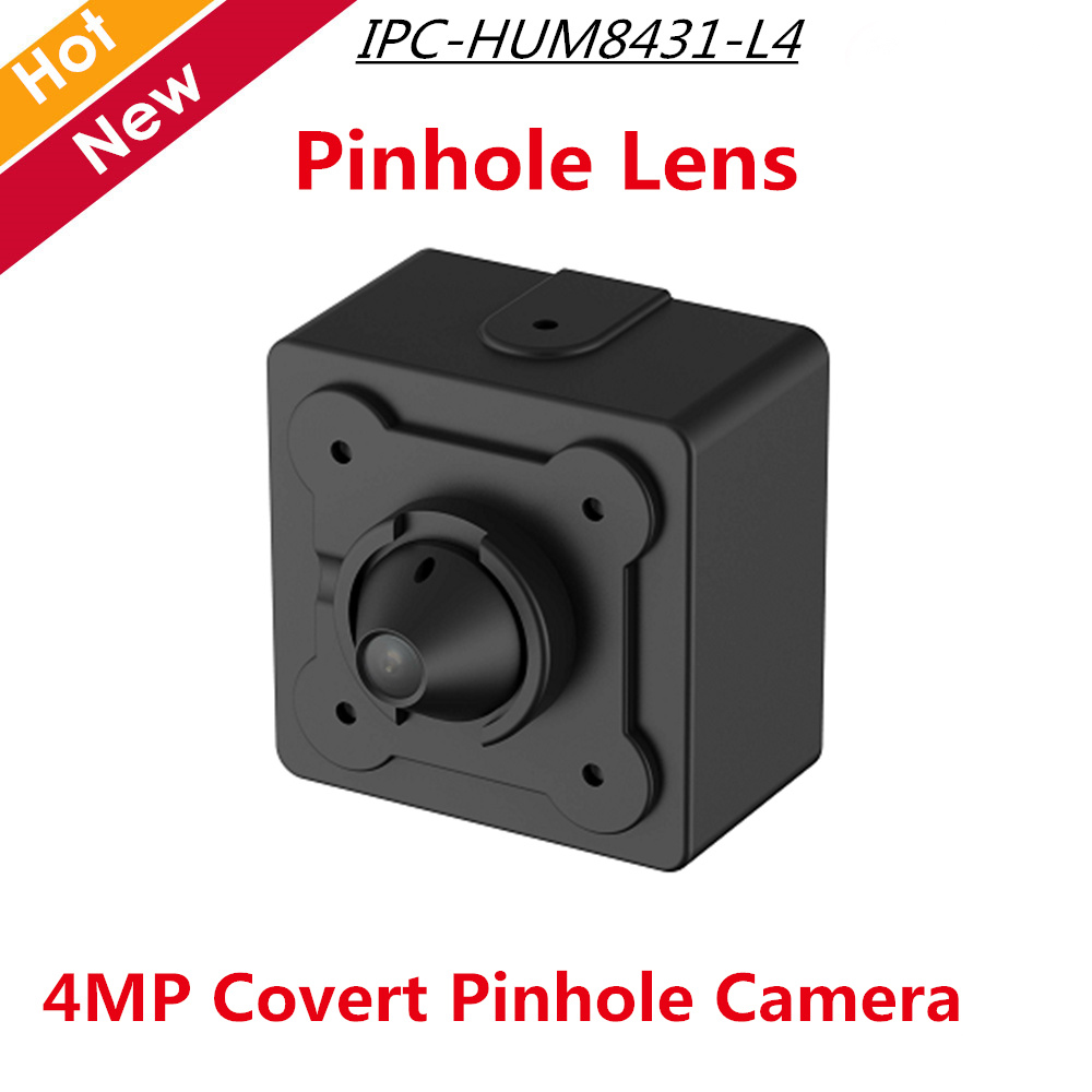 2018 New DH IPC-HUM8431-L4 4MP Covert Pinhole Network Camera Lens Unit 2.8mm Fixed Pinhole Lens free ship 4mp poe dahua covert pinhole camera main unit ipc hum8431 e1 h 265 support smart detection and sd card metal case