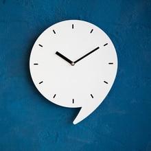 Mandelda Wall Clock 12 Inches Cartoon Comma Shape Acrylic Digital Watches Home Decor Decoration Wrought