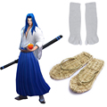 Envío Gratis Samurai Spirits SNK Ukyo Tachibana sandalias de Paja De Madera y Juego de Dos consejos Soks Cosplay Accesorios