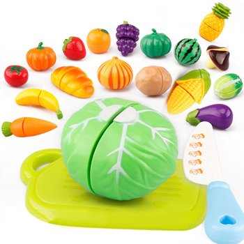 Hot ! 29Pcs/Set Kids Kitchen Toys Fruit Vegetable Cutting Food Play Early Development and Education Toys for Baby Pretend Play