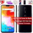 2018 New Oneplus 6 Waterproof Mobile Phone 6.28'' 6/8GB RAM 64/128GB ROM Snapdragon 845 Android 8.1 Dual Rear Camrea 20+16MP NFC