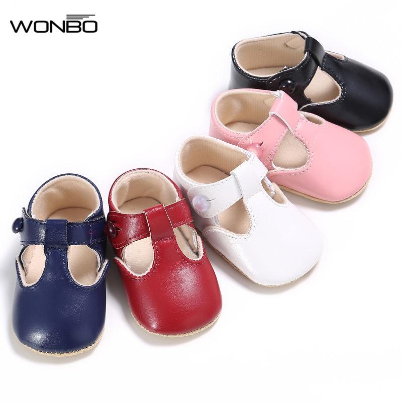 Bébé chaussures doux décontracté princesse filles bébé enfants Pu cuir solide berceau bébé enfant en bas âge mignon Ballet Mary Jane chaussures 0-1 T
