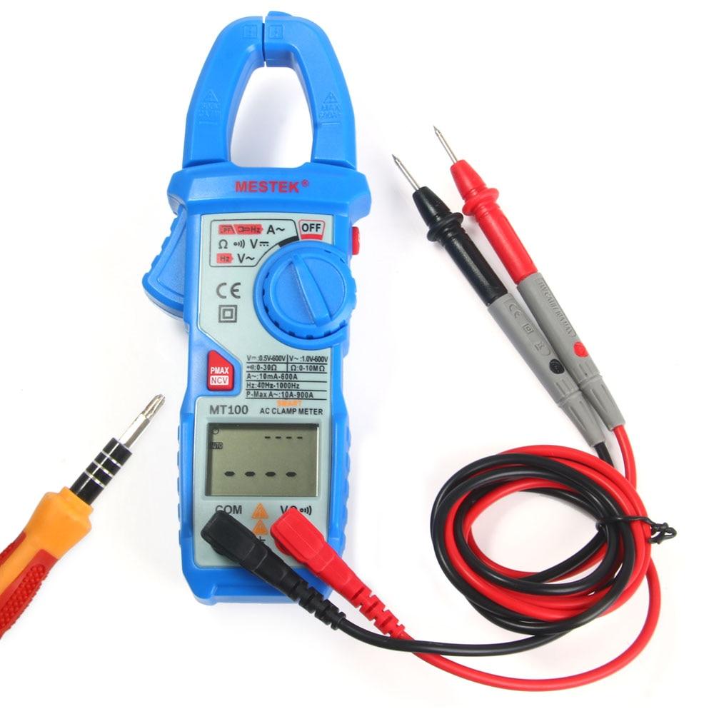 MESTEK MT100 Multimeter True RMS Digital AC Current Clamp Meter Multimeter Resistance Measurements Continuity Diode Testing true rms multimeter ac