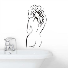 Wall Art Murals For Bathroom Beauty Naked Body Decals Vinyl Wallpaper Waterproof Modern Sticker lady Bedroom Home Decor
