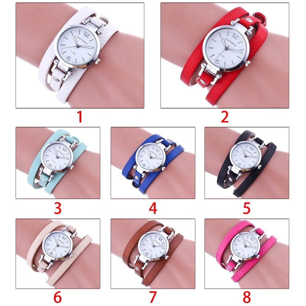 Fabala Luxury Leather Casual Slim Quartz Wristwatch Watch 1